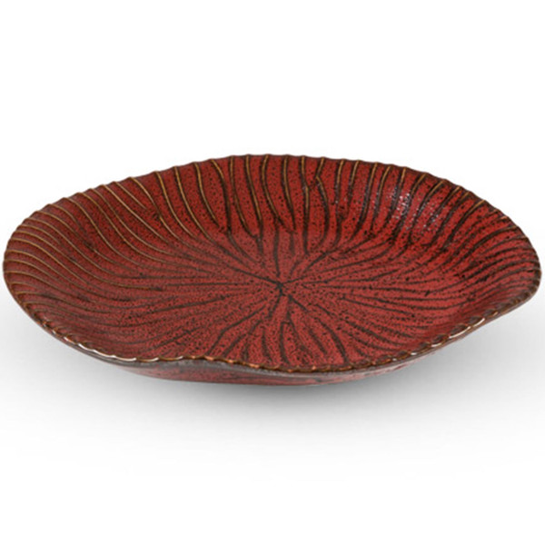 Image of Shuin Red Abstract Plate