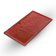 Shuin Red Rectangular Plate