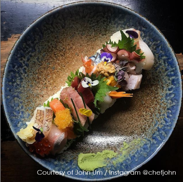 Image of Ainagashi Blue Brown Round Plate 4