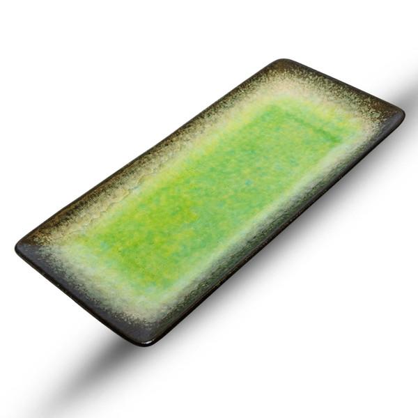 Image of Ariake Green Rectangular Plate 1