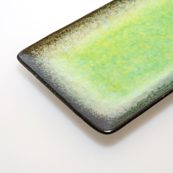 Image of Ariake Green Rectangular Plate 3