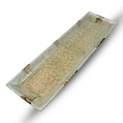 Sand Vidro Green Rectangular Plate