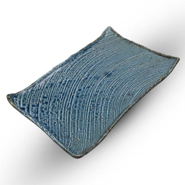 Image of Cornflower Blue Rectangular Plate 1