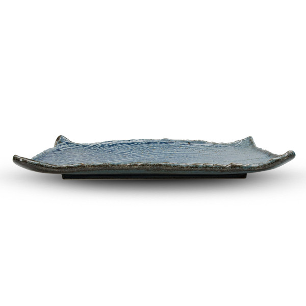 Image of Cornflower Blue Rectangular Plate 2
