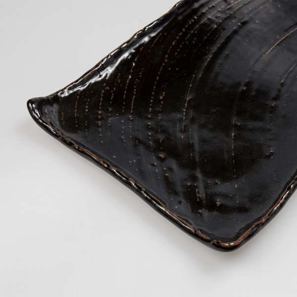 Image of Charred Black Rectangular Platter Plate 3