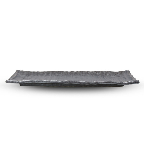 Image of Textured Graphite Oblong Plate 2