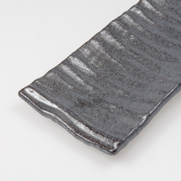 Image of Textured Graphite Oblong Plate 3