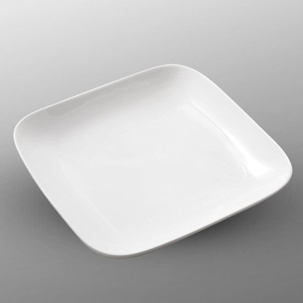Image of Korin Durable White Square Plate with Round Edge