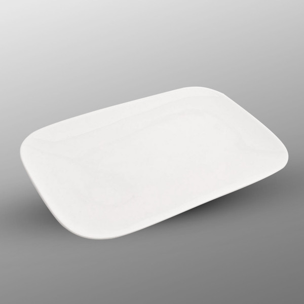 Image of Korin Durable White Round Edged Rectangular Plate
