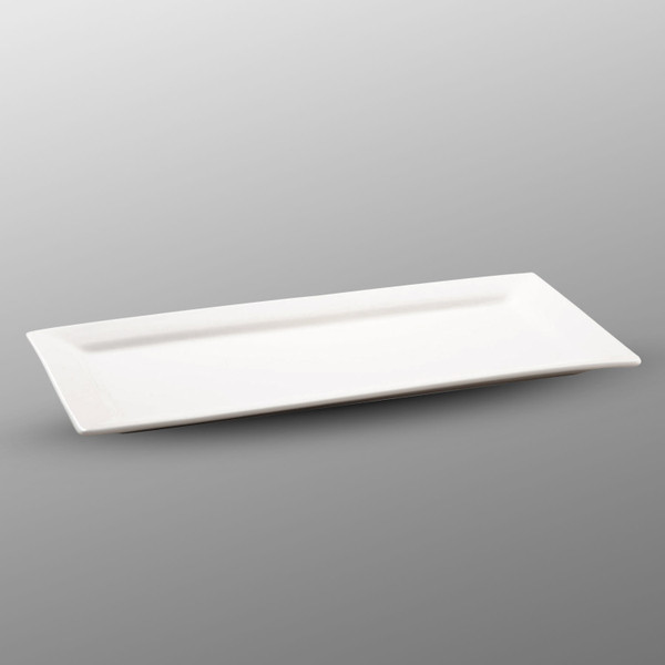 Image of Korin Durable White Rectangular Plate with Rim