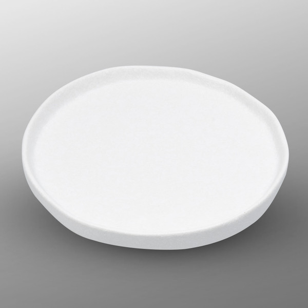 Image of Korin Durable White Flat Round Plate 1
