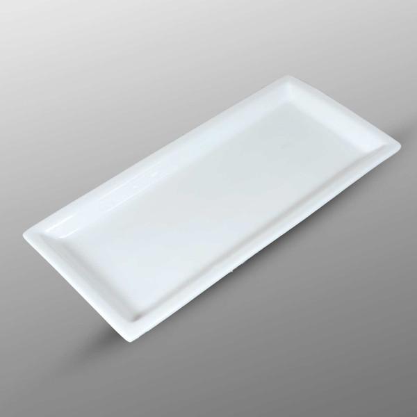 Image of Korin Durable White Rimmed Rectangular Plate 1