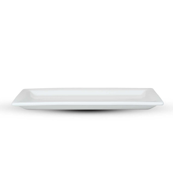 Image of Korin Durable White Rimmed Rectangular Plate 2