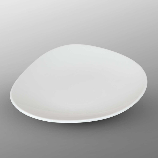 Image of Korin Durable White Round Clamshell Plate 1
