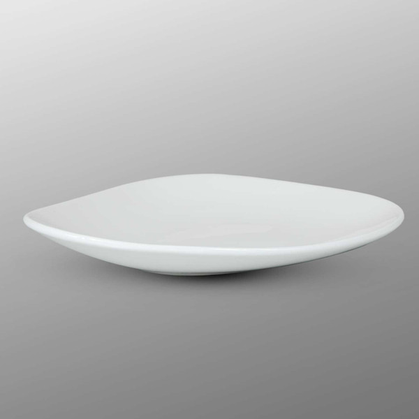 Image of Korin Durable White Round Clamshell Plate 2