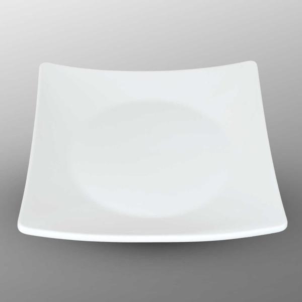 Image of Korin Durable White Raised Corner Square Plate 1