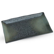 Black Moss Patterned Rectangle Plate