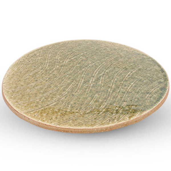Image of Forest Oribe Footed Round Plate