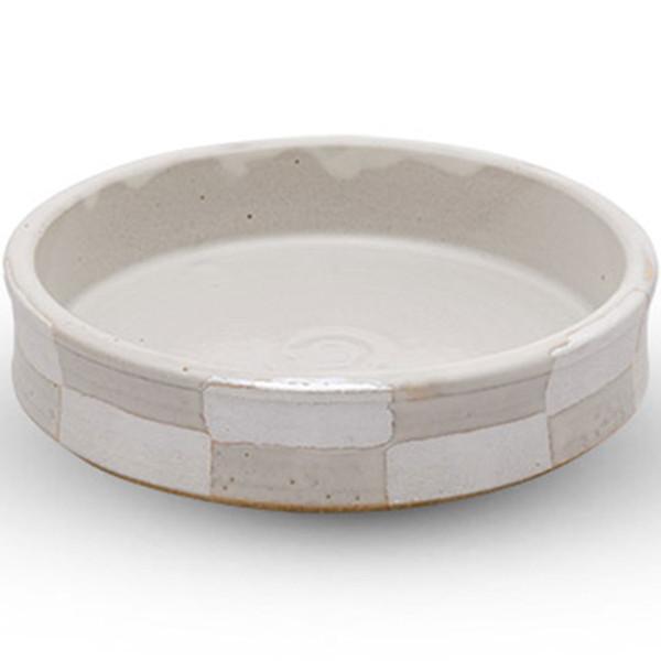 Image of Taku White Checkered Round Plate