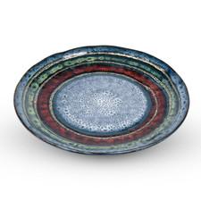 Marbled Black Round Plate