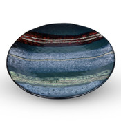 Marbled Black Round Plate