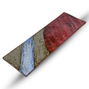 Red Blue Rectangular Slate Plate