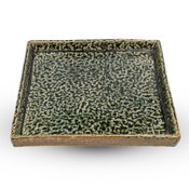 Moss Green Flat Square Plate