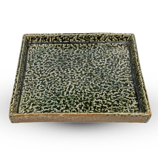 Image of Moss Green Flat Square Plate 1