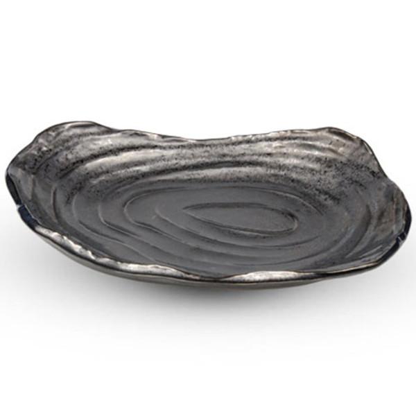Image of Metallic Slate Gray Abstract Plate 1