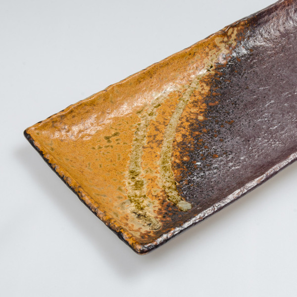 Image of Irabo Brown Oblong Plate 3