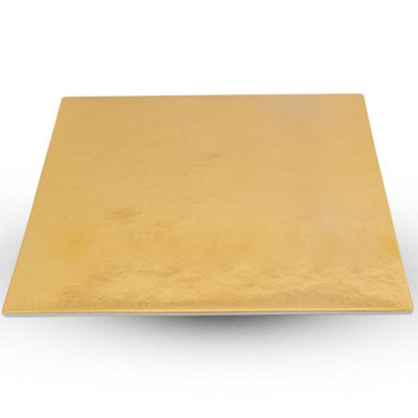 Image of Urushi Lacquered Gold Square Plate - Medium 1