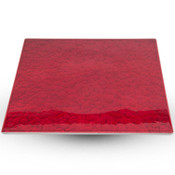 Urushi Lacquered Red Square Plate - Medium
