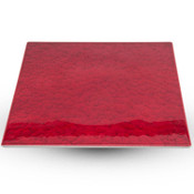 Urushi Lacquered Red Square Plate - Large