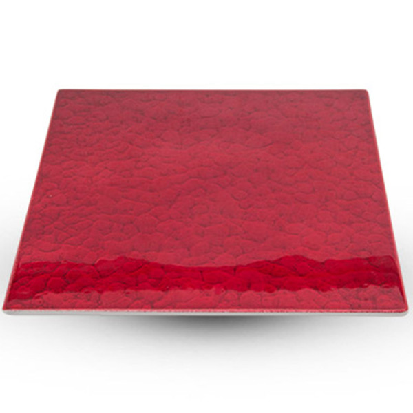 Image of Urushi Lacquered Red Square Plate - Large 1