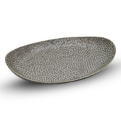 Hammered Luster Oval Plate