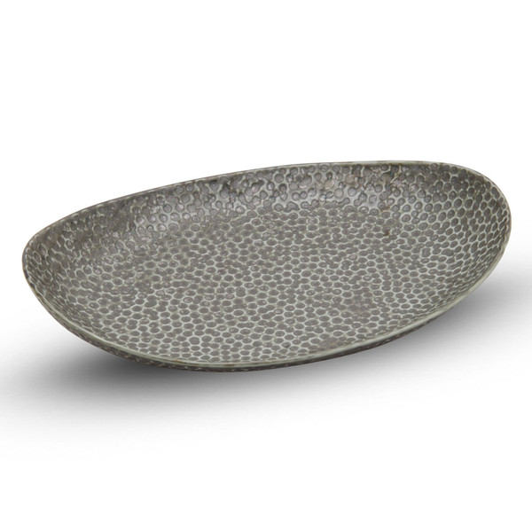 Image of Hammered Luster Oval Plate