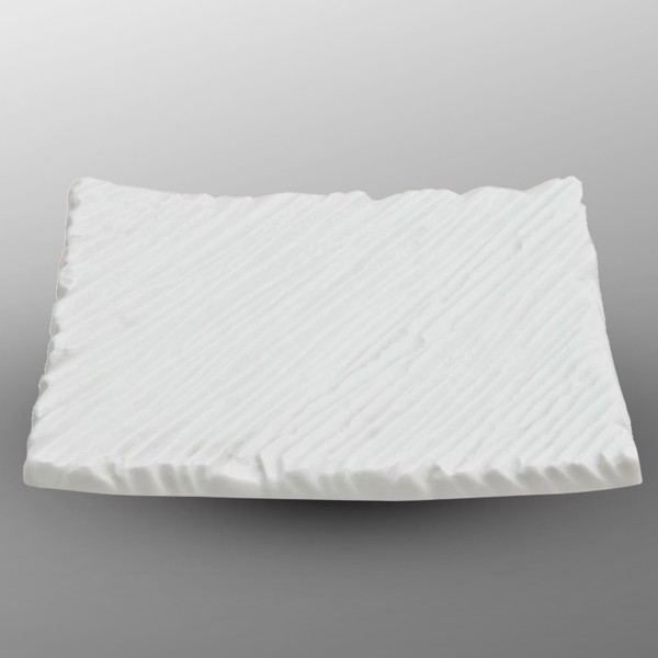 Image of White Textured Plate