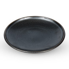 Tessa Black Round Plate
