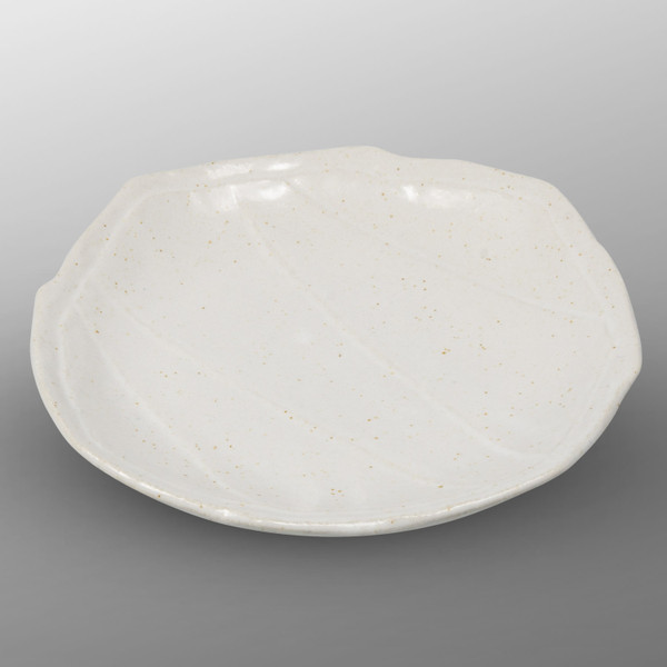 Image of Oribe White Round Octagonal Plate