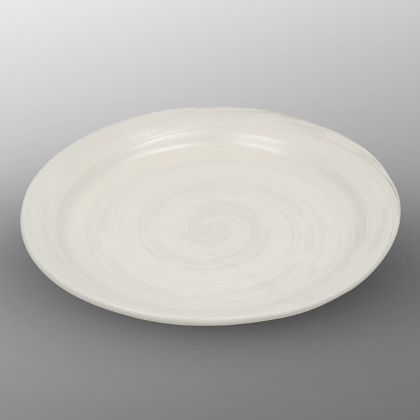 Image of Hake Brush White Round Plate 1