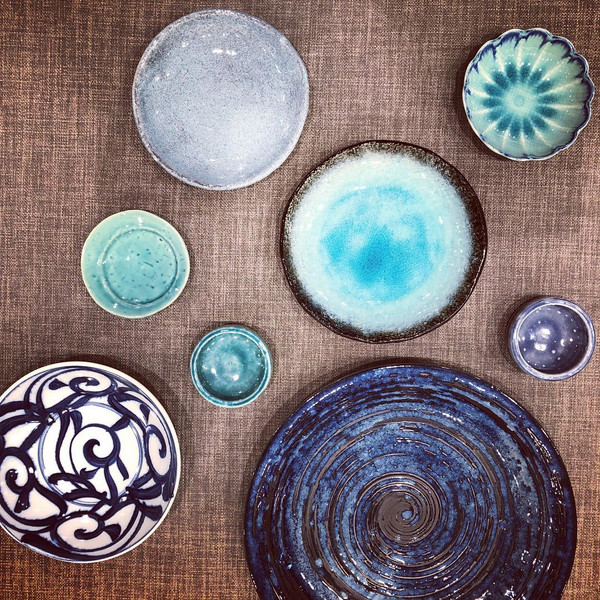 Image of Aqua Blue Round Plate 2