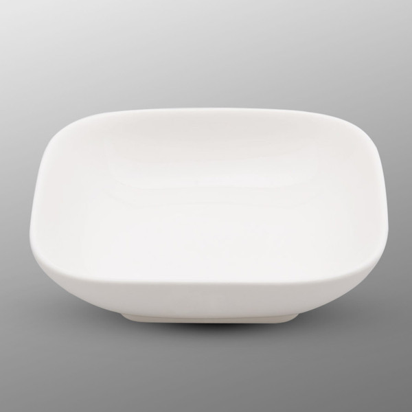 Image of Korin Durable White Square Small Plate with Round Edge 1