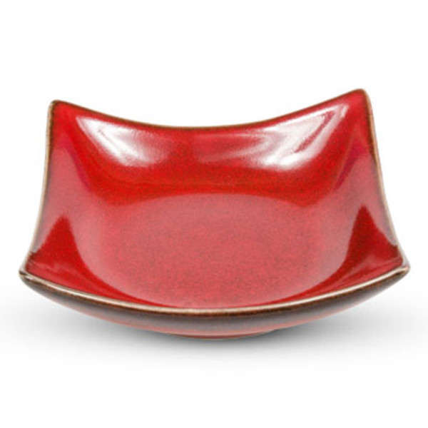 Image of Fusion Red Square Bowl 1