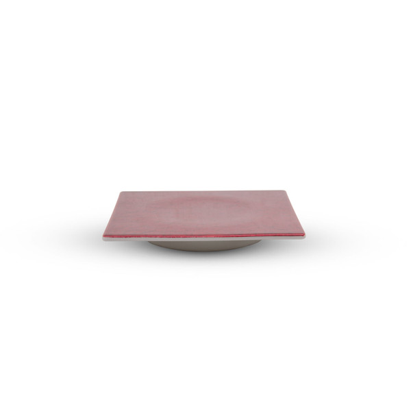 Image of Urushi Lacquered Red Square Plate - Small 2