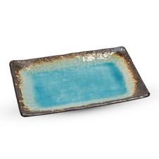 Toruko Nanban Blue Rectangle Plate