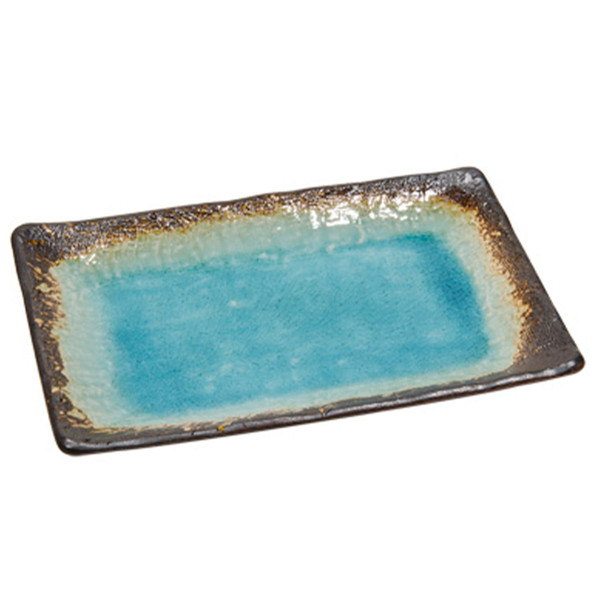 Image of Toruko Nanban Blue Rectangle Plate