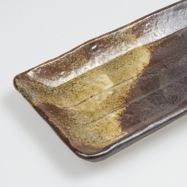 Image of Narrow Metallic Matte Oblong Plate 3