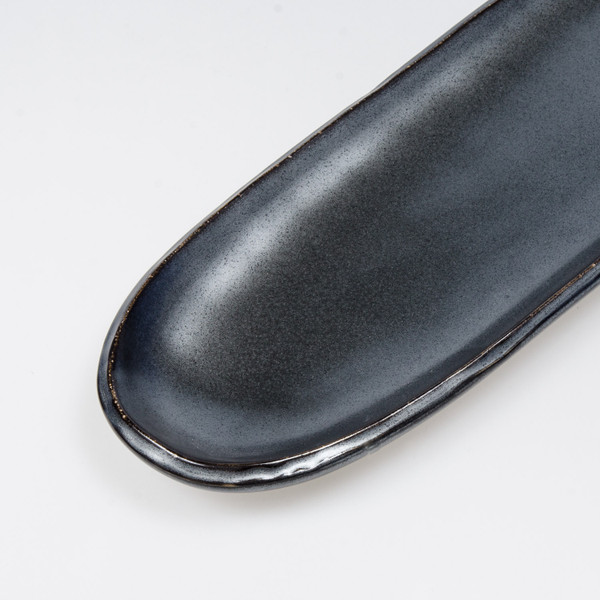 Image of Tessa Black Long Oval Plate 4
