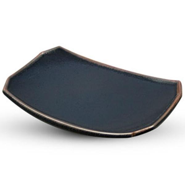 Image of Yuzu Tenmoku Black Rectangle Plate