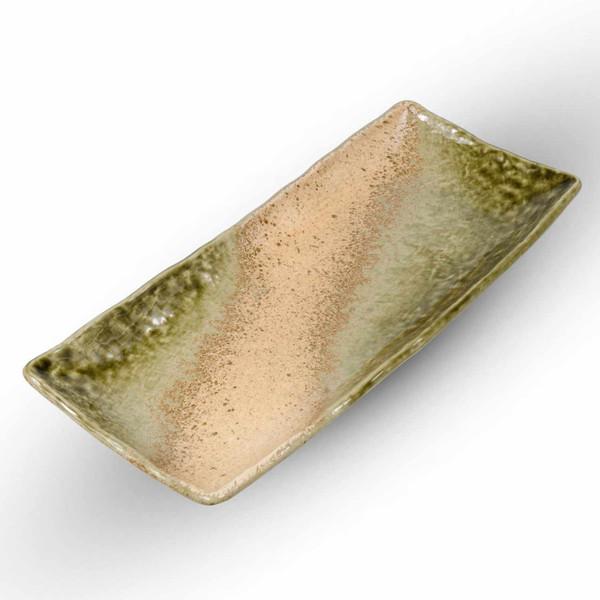 Image of Glossy Green Rectangular Plate 1